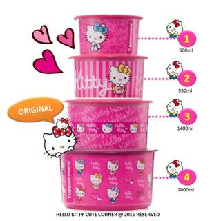 Hello Kitty Limited set - Tupperware (one touch)