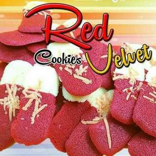 Biskut Lidah Kucing (Red Velvet Cheese)