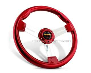 340mm Plastic ABS Alloy Spoke Dished Sport Steering Wheel with MOMO Horn