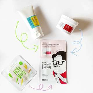 [LIMITED STOCK] Cosrx One Step Pimple Clear Kit