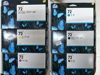 HP 72 Ink Cartridge (Black / Photo Black/ Matte Black / Grey / Cyan / Magenta / Yellow) )