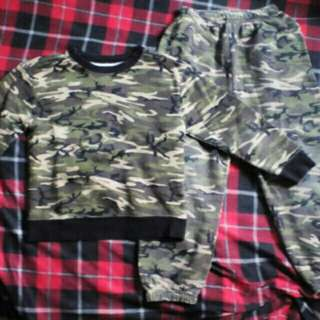 Camouflage Jacket and Jogger Pants set