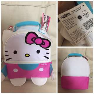 SALE 40% Off - BNWT Authentic Thermos Hello Kitty Lunch bag (2 zip thermal compartments)
