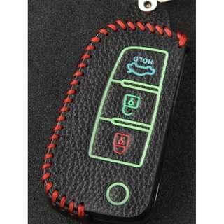 Nissan Type F Car Key Leather Pouch w/glow