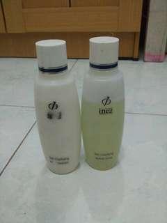 inez skin clarifying milkcleanser+active toner masih 80%,baru beli.