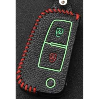 Nissan Type G Car Key Leather Pouch w/glow