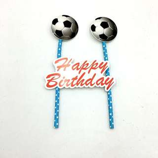 ⚽️ Football soccer theme Party Supplies - DIY Cake deco / cake topper