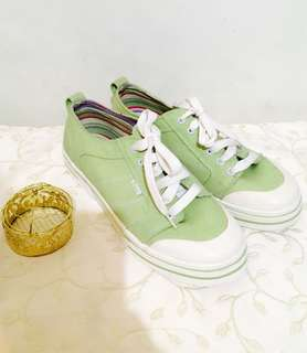 Charity Sale! Authentic G.H. Bass & CO. Women's Light Green Boat Shoes Size 9