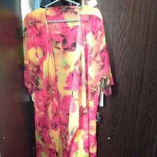 Cardigan long kimono