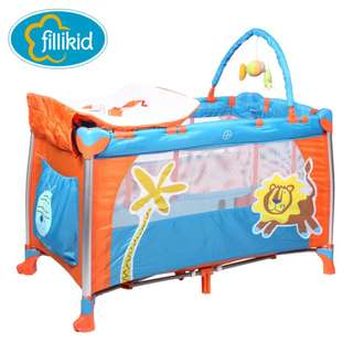 Fillikid 1st playpen baby portable grib w/accessories