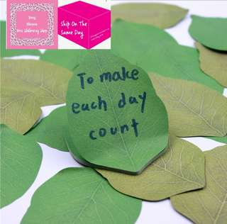 Set of 50sheets Green Leaves Sticky Note
