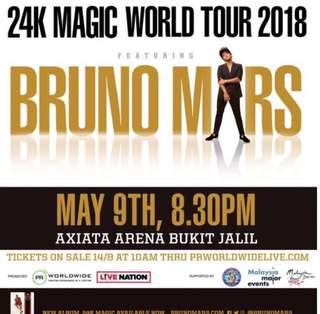 Bruno mars 24k World Tour 2018 Malaysia