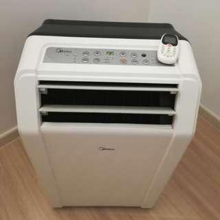 Midea portable aircond 1hp, food display water heater (Berjaya), display showcase, iron steamer (electrolux)