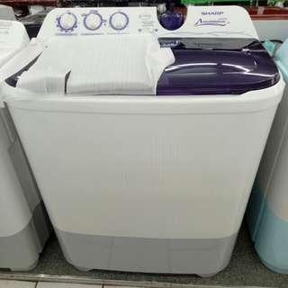 Sharp aquamatic mesin cuci 2 tabung