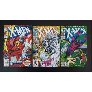 Uncanny X-Men #284, #285 & #286 (1992 1st Series)-Complete Set Of 3, By Jim Lee, Whilce Portacio and John Byrne!