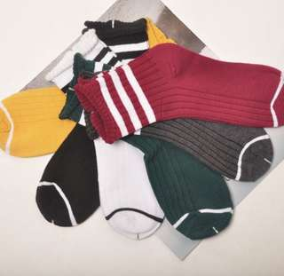 Basic stripes high socks