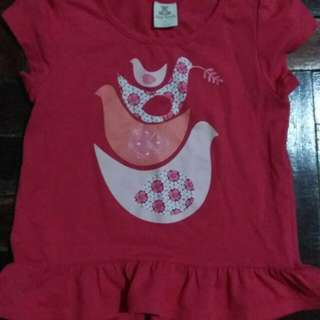 Tiny button tee 3-4yo