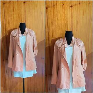BABY PINK MILITARY LIKE TRENCH COAT