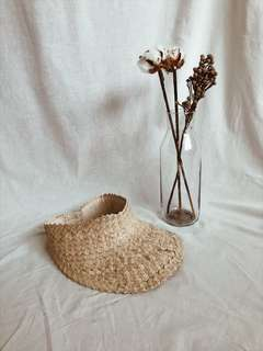 Straw Sun Visor Hat Natural
