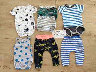 BONDS Baby Boys Clothes Bundle Size 00