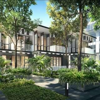 Freehold Pasir Panjang townhouse iconic black & white design