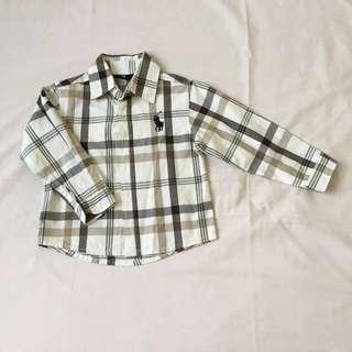 Chequered Beige Boy Shirt