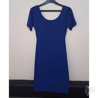 Dress fit body bodycon biru