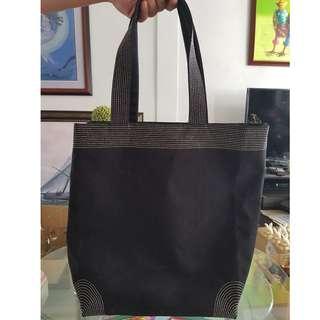 Night Black Tote Bag