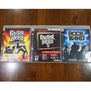 Best Guitar Hero Rock Band PS3 Games Collection!