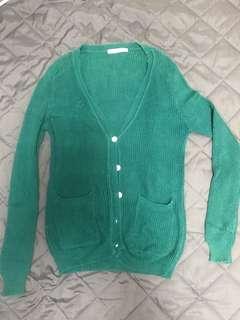 🚚 藍綠色針織外套