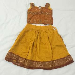 Mustard Gold Indian Dress Costume