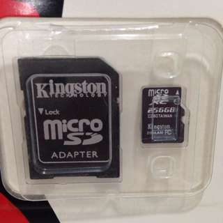 256GB Memory Card Micro SD + SD Adaptor