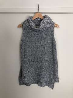 DREAM HOUSE | Size 8 | Grey Knitted Turtleneck Singlet