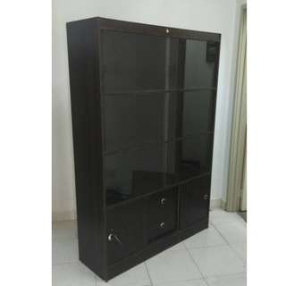 Filing Cabinet With Glass Sliding Door (L123 x D38 x H180 cm) * L17 A