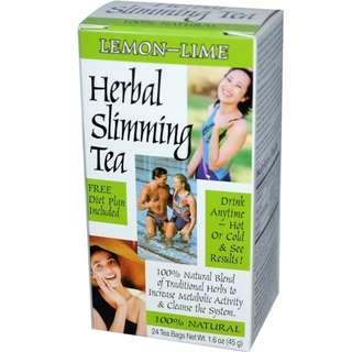 🚚 21st Century , Herbal Slimming Tea, LEMON-LIME, Caffeine Free, 24 Tea Bags, 1.6 oz (45 g)