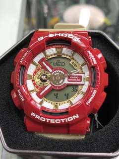Casio G-Shock GA-110CS-4A ga-110cs-4a GA-110 Ironman 紅金 鐵甲奇俠