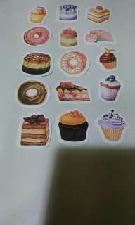 Cute cakes labeling stickers
