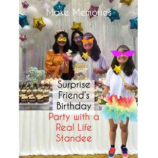 Friend's Birthday Party Surprise Life Size Image Standee