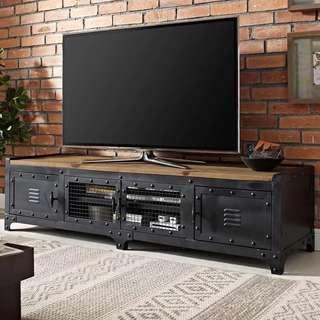 復古工業風實木電視櫃