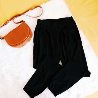 Bershka soft trouser in black