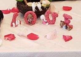 L O V E alphabet wedding deco