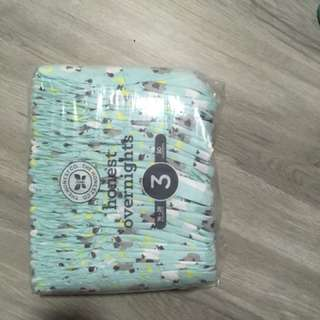 HONEST baby diapers (size 1, 2 and 3)
