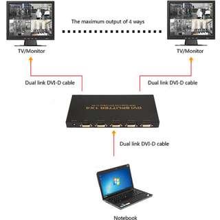 DVI SPLITTER 分配器 1X4 - Dual link DVI-D 4K2K - S06186