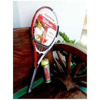 Wilson Roger Federer Adult Tennis Racket Red/White