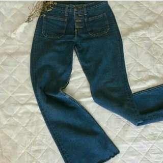 REPRICED Wrangler denim flare semi high waist jeans or pants