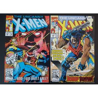 Uncanny X-Men #287 & #288 (1992 1st Series)-Set Of 2, By Jim Lee, Whilce Portacio and John Romita JR!
