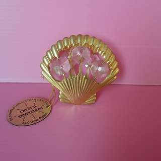 CRYSTAL TEMPTATION GOLD PLATED SEA SHELL