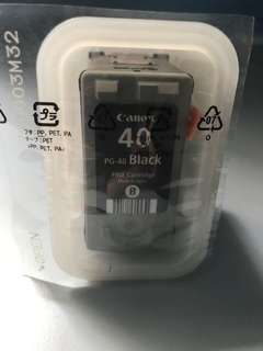 Canon PG-40 Black Ink brand new and sealed