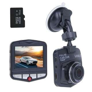 LANKA Full HD 1080P Dash Cam Digital Car DVR Driving Video Recorder Black Box Vehicle Camcorder - Black with 16GB Micro SD Card
