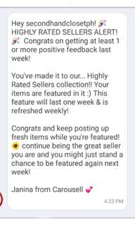 Highly Rated Seller AGAIN!!! ^_^